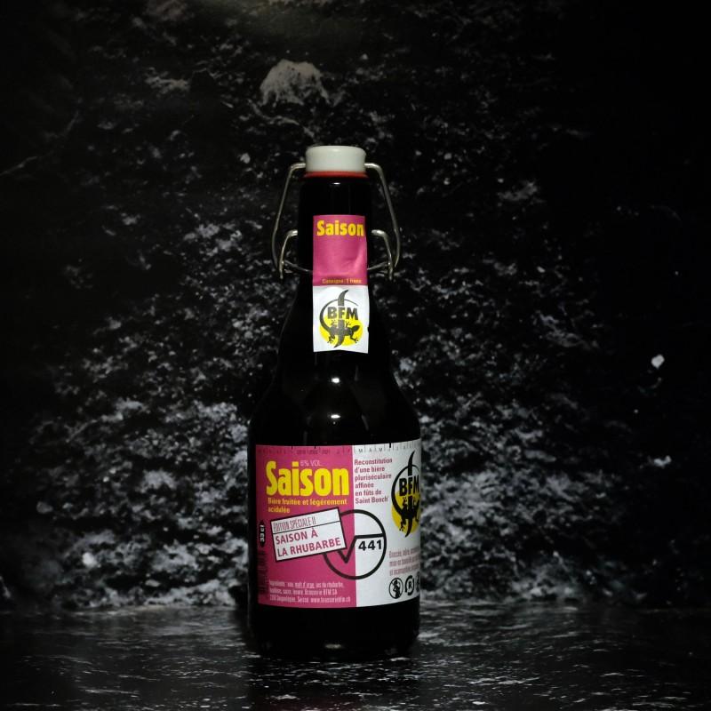 BFM - Saison Rhubarbe - 6% - 33cl - Bte