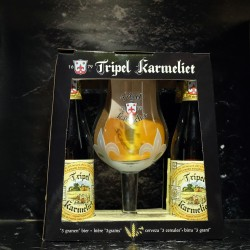 Bosteels - Coffret Tripel Karmeliet 4*33cl + 1 verre -  -  -