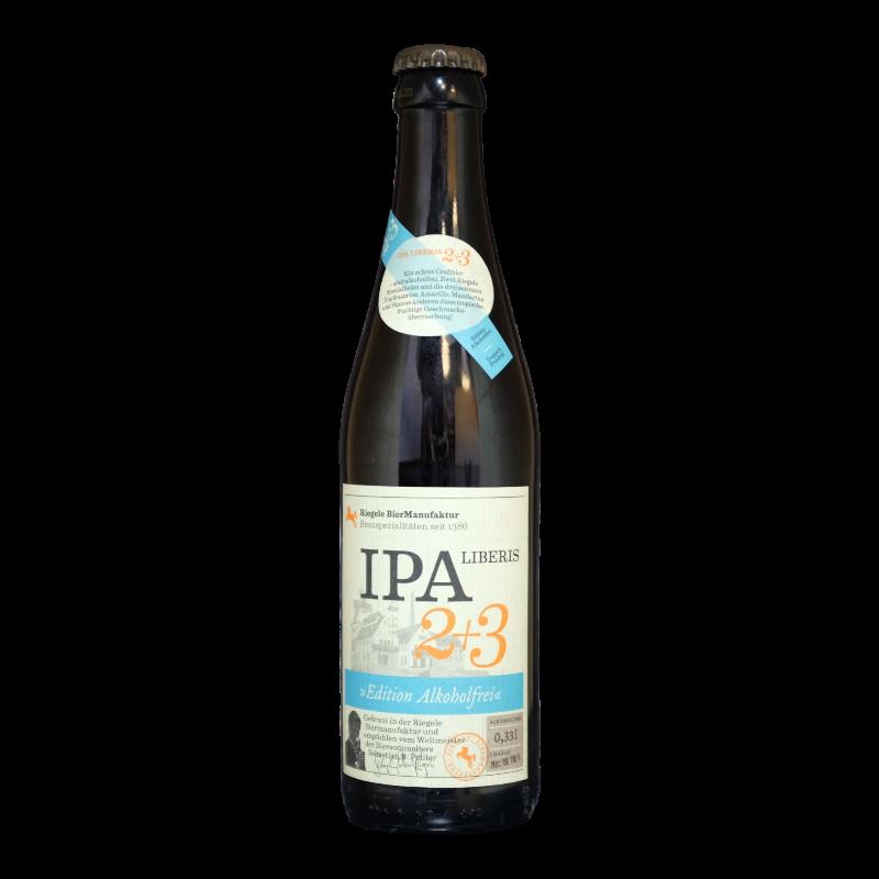 Riegele - IPA Liberis 2 + 3 Sans Alcool - 0.4% - 33cl - Bte