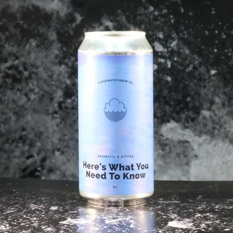 Cloudwater - Here's what you need to know - 6% - 44cl - Can