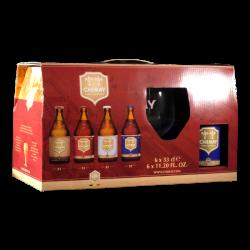Chimay - Coffret 6 bières + 1 verre