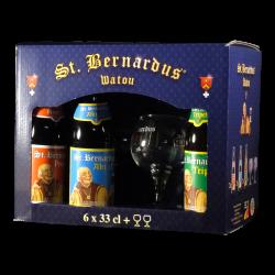 St Bernardus - Coffret 6 bières + 2 verres