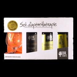 Dr Gab's - Set d'apérothérapie – Coffret 3*33cl + 1 verre -  -  -