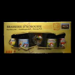 Achouffe - Coffret Chouffe 4 bouteilles + 1 Verre