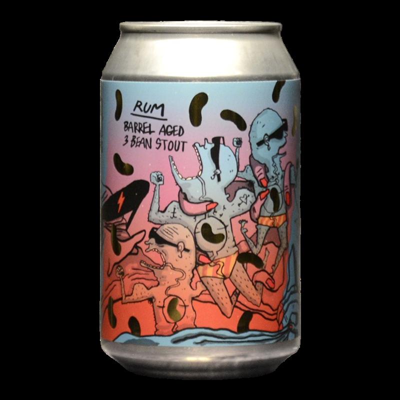 Lervig - Way Beer - 3 Bean Stout Rum BA 2020 - 12.5% - 33cl - Can